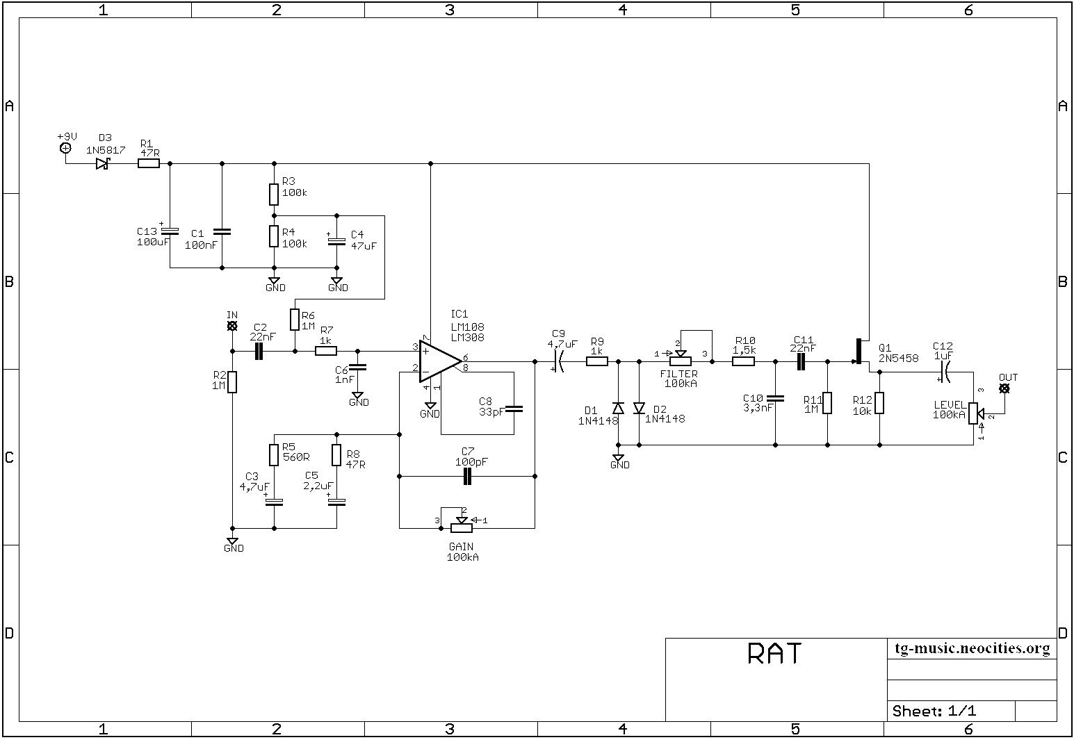Proco RAT Schematic